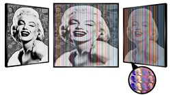 Marilyn's Dream by Patrick Rubinstein - Kinetic Original on Board sized 45x45 inches. Available from Whitewall Galleries